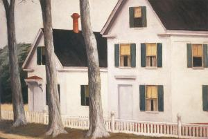 """""""Two Puritans."""" Edward Hopper, 1945. Courtesy of ARTstor, for educational purposes only."""